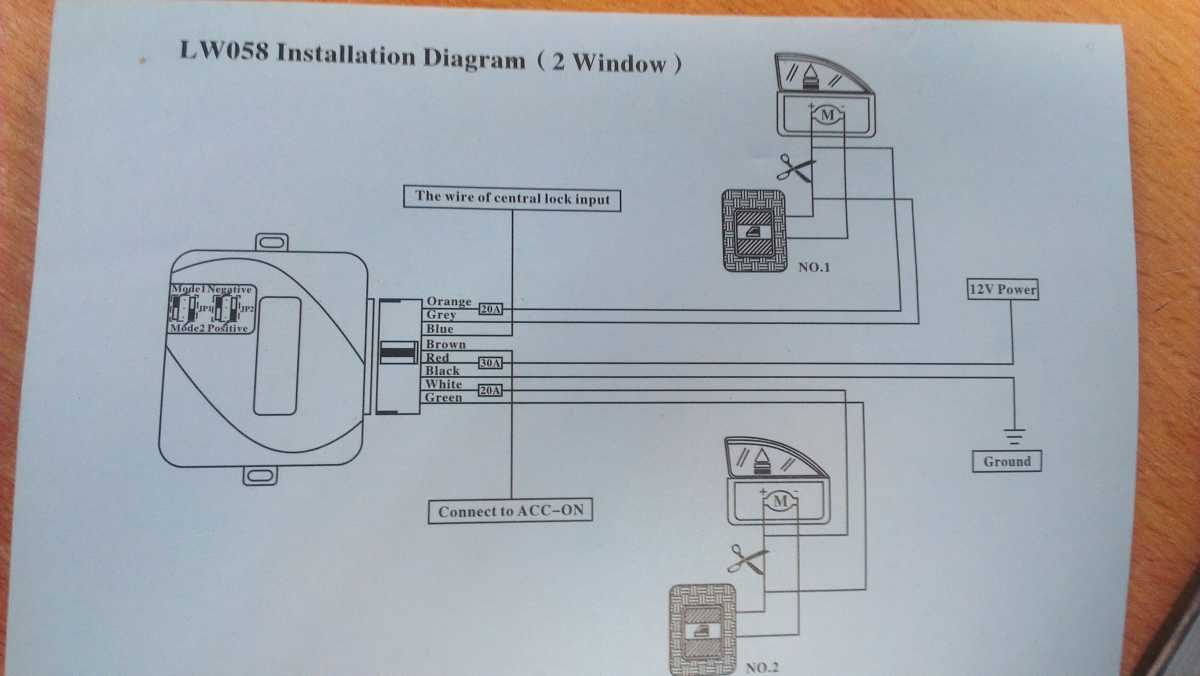 Mgf Mg Tf Owners Forum Help Electronics Again Wiring Diagram Heres A Windowcloser