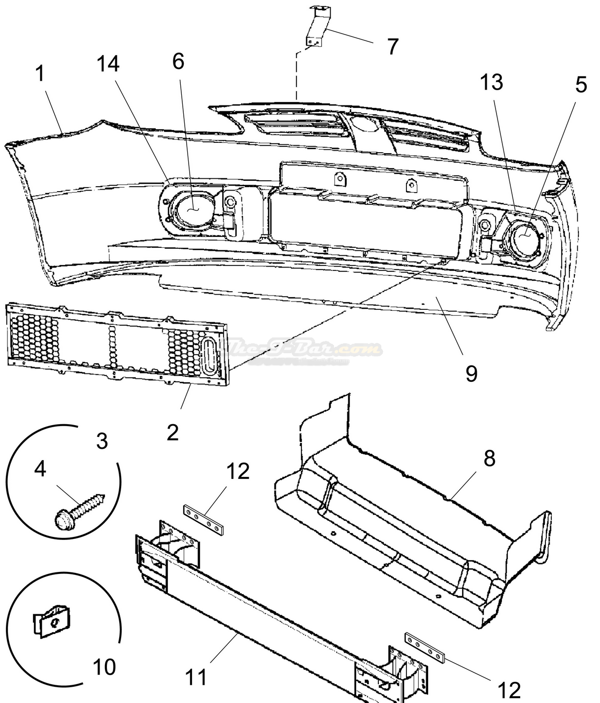 2004 ford ranger bumper diagram html