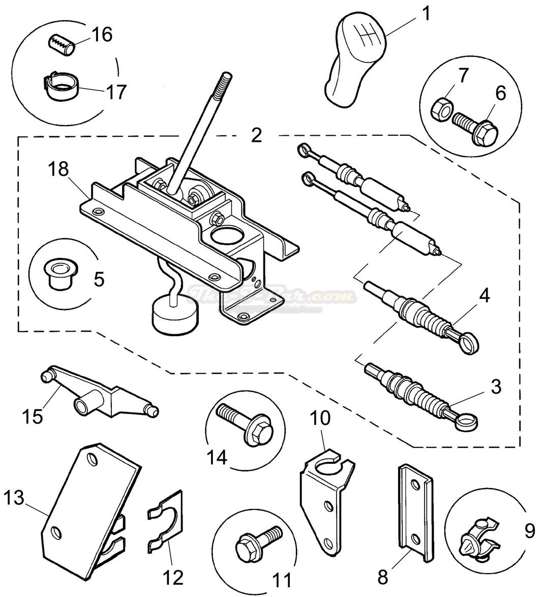 Selector Mechanism External - Manual 1800